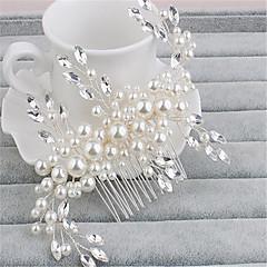 נשים ריינסטון דמוי פנינה כיסוי ראש-חתונה אירוע מיוחד מסרקי שיער חלק 1