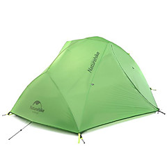 Naturehike 2 henkilöä Teltta Kaksinkertainen teltta Yksi huone Retkeilyteltat Pidä lämpimänä Vedenkestävä Kannettava Tuulenkestävä Sateen