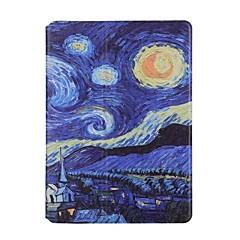 Para Porta-Cartão Origami Capinha Corpo Inteiro Capinha Cenário Rígida Couro PU para Apple iPad Air 2 iPad Air