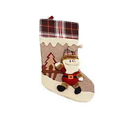 Božićne igračke Poklon vrećice Blagdanske potrpštine 3Pcs Božić Tekstil Obala Bijela