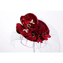 Femme Alliage Molleton Casque-Mariage Occasion spéciale Extérieur Chapeau 1 Pièce