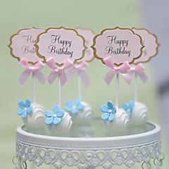 Decorações de Bolo Não-personalizado Corações Papel de Cartão Casamento Aniversário Despedida de Solteira Chá de Bébe Festa de 16 Anos