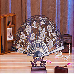 "Fans and parasols-# Piece/Set Hand Fans Pink White Lilac Green Blue Black Yellow8 1/2"" high × 19 1/2"" in diameter(21.8cm hight×50cm in"