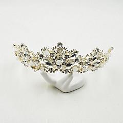 Women's Rhinestone Alloy Headpiece-Wedding Special Occasion Casual Tiaras 1 Piece