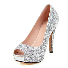 Women's Heels Spring Summer Fall Winter Platform Glitter Customized Materials Wedding Dress Party & Evening Stiletto Heel Platform Sequin