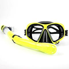 Máscaras de mergulho Pacotes de Mergulho Snorkels Máscara de Mergulho Kit para Snorkel Mergulho e Snorkeling Natação PVC Vidro Silicone