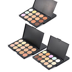 3 Concealer Contour Pressed Powder Wet Pressed powder Moisture Concealer Natural Face # popfeel