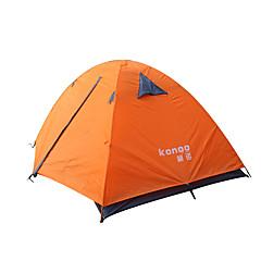 2 Pessoas Tenda Duplo Um Quarto Barraca de acampamento Alúminio Couro EcológicoProva de Água Respirabilidade Á Prova-de-Pó Á