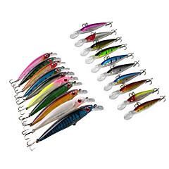 """20 יח ' פיתיון קשה פתיונות שוחים דגיג ווי דיג פתיונות דיג פיתיון קשיח Minnow חבילות פיתיון מבחר צבעים g/אונקיה,110 mm/4-1/3"""" אינץ ',"""