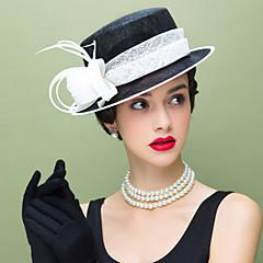 נשים נוצה פשתן כיסוי ראש-חתונה אירוע מיוחד קז'ואל קישוטי שיער חלק 1