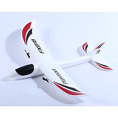 Planeador RC FX818 2 canales 2.4G Avión RC 10KM / H Listo para Usar Mando A Distancia Aeronave Hélices Cable USB Manual De Usuario