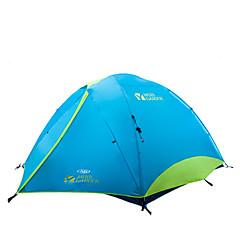 MOBI GARDEN® 3-4 사람 텐트 더블 베이스 자동 텐트 투 룸 캠핑 텐트 옥스퍼드 방수 호흡 능력 자외선 저항력 비 방지 바람 방지 따뜻함 유지 울트라 라이트 (UL) 폴더 휴대용-하이킹 캠핑 여행 야외