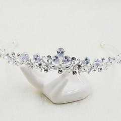 Women's Alloy Cubic Zirconia Headpiece-Wedding Special Occasion Casual Tiaras 1 Piece