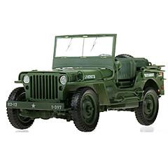 Armeijan ajoneuvo Lelut auton Lelut 1:18 Metalli ABS Muovi Vihreä Rakennuslelu