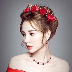 נשים קריסטל סגסוגת בד כיסוי ראש-חתונה אירוע מיוחד פרחים חלק 1