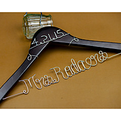 Personalized Wedding Hanger Custom Wedding Dress Hanger Wire Bride Name Hanger Bridesmaid dress Hanger with Silver Name