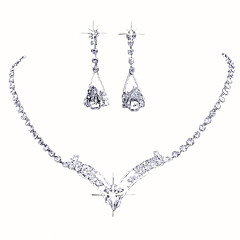 Jewelry Ogrlice Füllbevalók Vjenčanje Party Special Occasion Umjetno drago kamenje 1set Srebrna Vjenčanje Pokloni