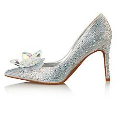 Γυναικεία παπούτσια-Τακούνια-Γάμος Φόρεμα Πάρτι & Βραδινή Έξοδος-Τακούνι Στιλέτο-Ανατομικό Πρωτότυπο-Μικροΐνα Δέρμα Γκλίτερ-Ασημί