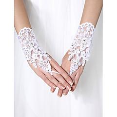 손목 길이 손가락이 없는 스타일 장갑 튤 신부 장갑 비즈