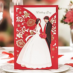 Double Gate-Fold Wedding Invitations 50-Invitation Cards Classic Style Card Paper