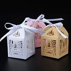50 Darab / készlet Favor Holder-Kocka alakú Gyöngy-papír Ajándék dobozok Nem személyre szabott