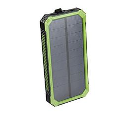 16000mAhbanque de puissance de batterie externe Charge Solaire Sorties Multiples Lampe Torche Imperméable Antichoc 16000 2000Charge