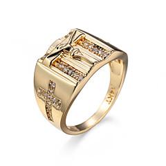 指輪 ジルコン キュービックジルコニア スチール シンプルなスタイル ゴールド ジュエリー Halloween 1個