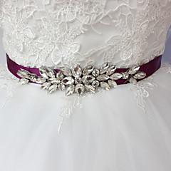 Satin Wedding Party/ Evening Dailywear Sash-Beading Rhinestone Women's 98 ½in(250cm) Beading Rhinestone