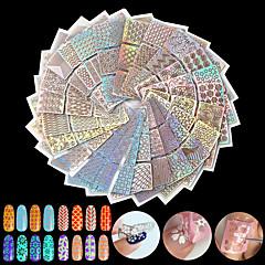 24pcs Adesivos para Manicure Artística Diecut Manicure Stencil maquiagem Cosméticos Designs para Manicure