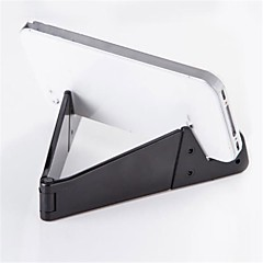 tablet stativ Plastik desk Table holder tablet Foldning Justerbar Fleksibel Bærbar Sort