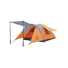 3-4 Pessoas Tenda Único Barracas para Acampamento Família Um Quarto Barraca de acampamento PoliésterProva de Água Respirabilidade Á