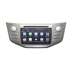 レクサスRX300のRX330 RX350のRX400hをトヨタハリアー7インチデュアルコア3グラム無線LAN 1グラムのdrr3の1.7GHz帯用autoradio 2喧騒車のDVDプレーヤー純粋なアンドロイド4.4.2 GPSラジオ