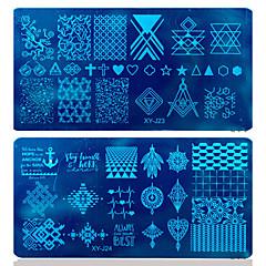 12x6cm DIY 폴란드어 스탬핑 네일 스탬프 템플릿 네일 아트 판 손톱 도구