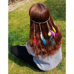 Women's Feather Headpiece-Wedding Special Occasion Casual Office & Career OutdoorHeadbands Hair Combs Flowers Wreaths Head Chain Hair Pin