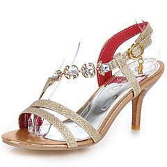 נשים-סנדלים-נצנצים חומרים בהתאמה אישית-נעלי מועדון-זהב כסף אדום-חתונה שמלה מסיבה וערב-עקב סטילטו