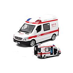 Ambulance Véhicules à Friction Arrière 01h32 Plastique Blanc