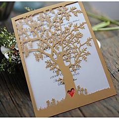 Přizpůsobeno Složený Svatební PozvánkyPozvánky na zásnubní večírek Rozloučení se svobodou karty Ušetřete datové karty Pozvánky Ukázka