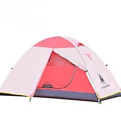 """1 אדם כפול אוהל מתקפל חדר אחד קמפינג אוהל מעל 3000 מ""""מ שמור על חום הגוף עמיד למים עמיד מוגן מגשם-רכיבה על אופניים ציד דיג צעידה קמפינג"""