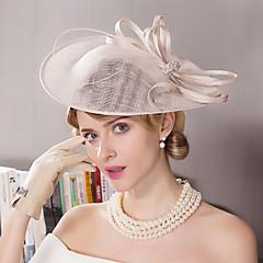 נוצה ריינסטון פשתן כיסוי ראש-חתונה אירוע מיוחד חוץ קישוטי שיער כובעים חלק 1