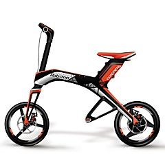 Electric Bicycle Cycling 30 Speed 12 Inch Double Disc Brake Suspension Fork Folding Folding Aluminium Alloy Aluminium