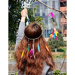 נוצה כיסוי ראש-חתונה אירוע מיוחד קז'ואל משרד וקריירה חוץ פרחים כובעים שרשרת ראש קליפס לשיער גומיה לשיער זרי פרחים חלק 1