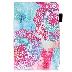 For Card Holder Wallet with Stand Flip Pattern Case Full Body Case Mandala Hard PU Leather for Apple iPad Mini 4 iPad Mini 3/2/1