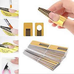 100st nail art formulieren voor acryl&uv gel tips verlengen papierlade gereedschappen