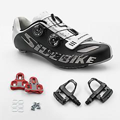 BOODUN/SIDEBIKE® joggesko Veisykkelsko Sykkelsko Sykkelsko med pedal og tåjern Unisex Demping Vei Sykkel ånd bare Blanding PU Sykling