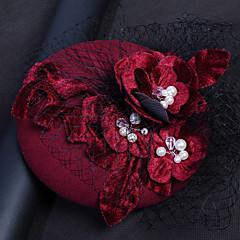 Pärla Flanell Nät Hårbonad-Bröllop Speciellt Tillfälle Fascinators Hattar Fågelbur Slöjor