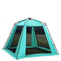 5-8 אנשים אוהל מחסה וברזנט צילייה למחנאות יחיד קמפינג אוהל אוהל אוטומטי שמור על חום הגוף בידוד חום עמיד ללחות מאוורר היטב עמיד למים נייד