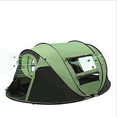 """3-4 אנשים אוהל יחיד קמפינג אוהל אוהל אוטומטי עמיד למים נייד עמיד מוגן מגשם נגד חרקים דחיסה נגד יתושים נשימה 2000-3000 מ""""מ ל ציד דיג צעידה"""