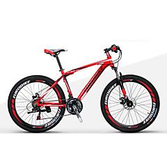 산악 자전거 Folding Bikes Pyöräily 21 Nopeus 27.5 Inch 1,95 tuuman Shimono Tuplalevyjarru Etujousihaarukka Alumiiniseosrunko Ei vaimennusta