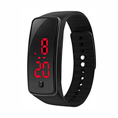 Womens Men Silicone Band Digitall LED Bracelet Wristwach Sports Running Waches