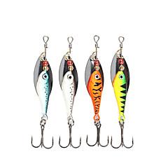 """4 יח ' פתיונות מסתובבים פתיונות דיג פתיונות דיג ופתיונות באז וספינר ירוק כתום כסף כחול g/אונקיה mm/2-5/8"""" אינץ ',מתכתדיג בים Spinning דיג"""